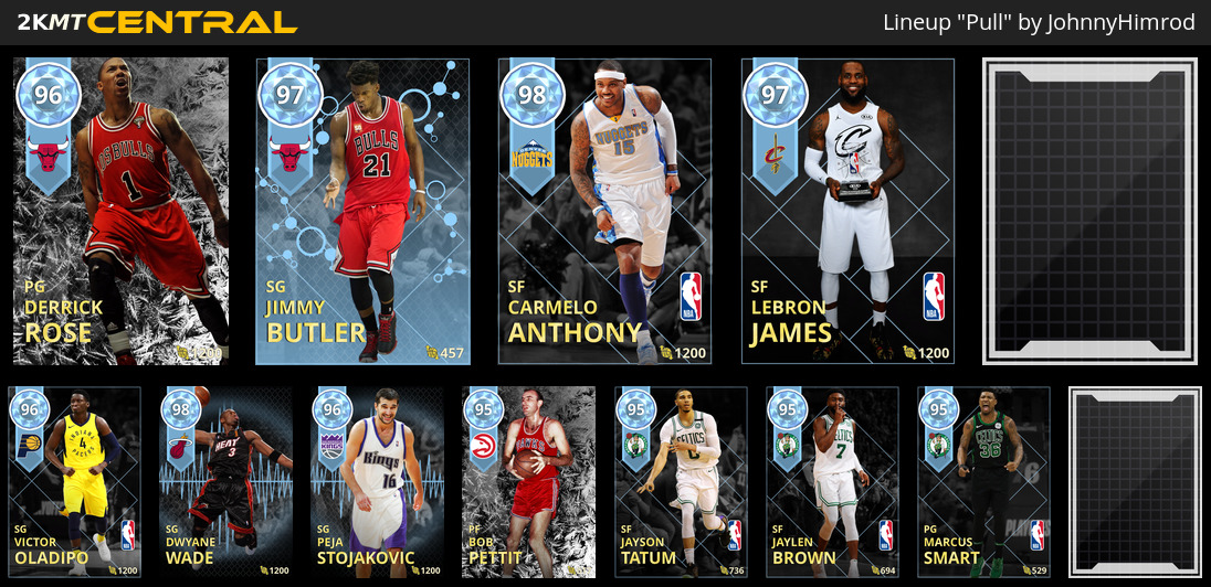 Your best lineup from cards you've pulled in 2k18 - myteam - 2K Gamer