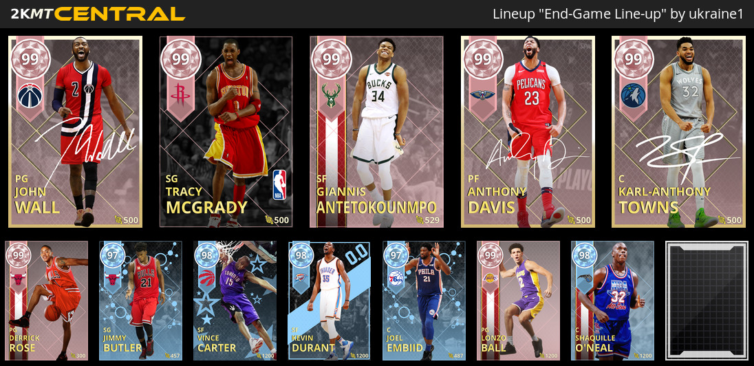 What's your line-up as the game winds down? - lineups - 2K Gamer